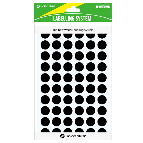 원형스티커 일반 (302 흑색)