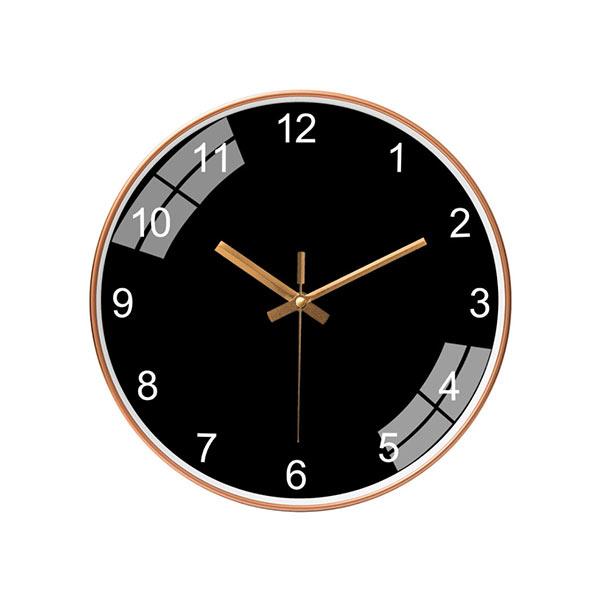 ABM 심플 저소음 숫자벽시계 골드블랙