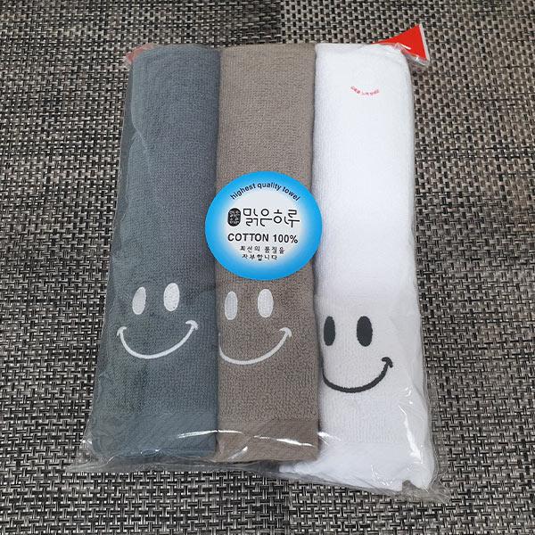 스마일타월 3개입 (색상랜덤)