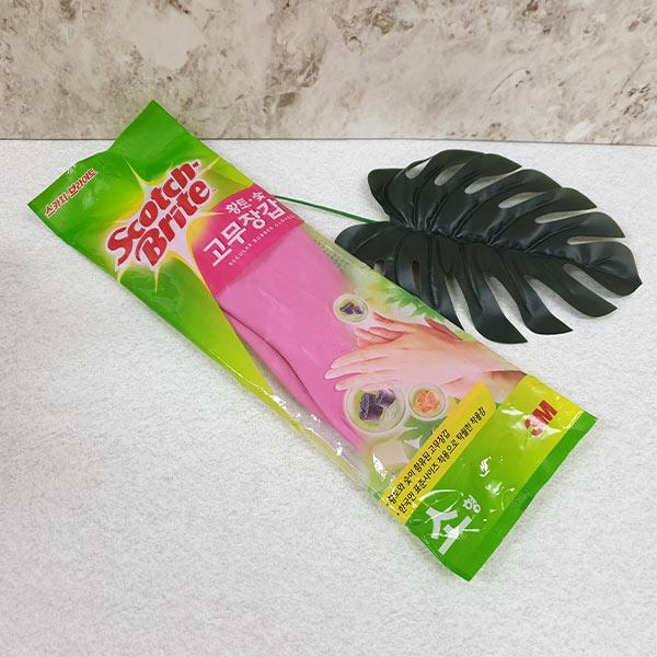 3M스카치 브라이트 황토 숯 고무장갑 소