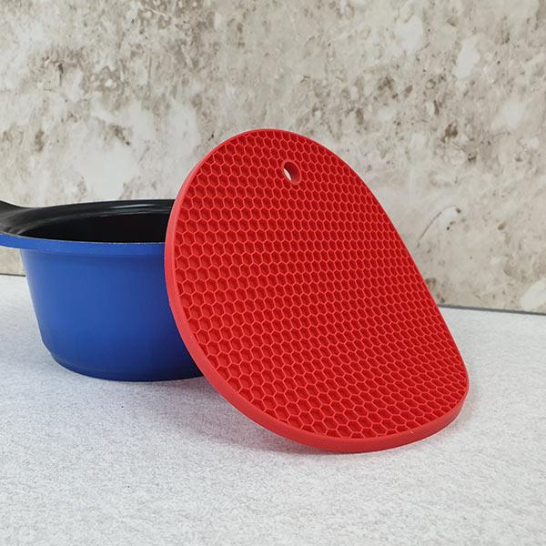 ABM 원형 실리콘 벌집 냄비받침 색상랜덤