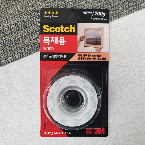 스카치 WD215 강력 목재용 폼 양면테이프 24mm
