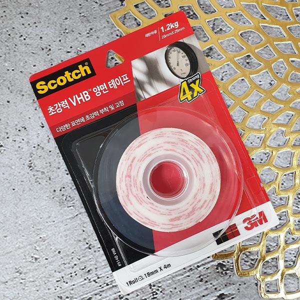 스카치 초강력 VHB 양면테이프 18mm
