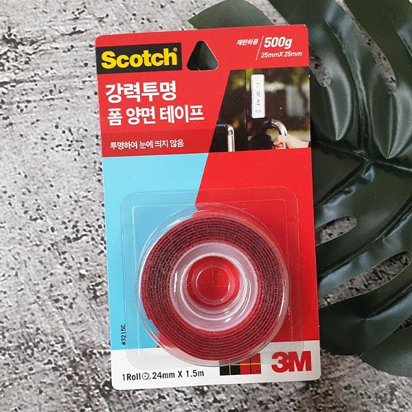스카치 강력투명 폼 양면 테이프 24mmx1.5m