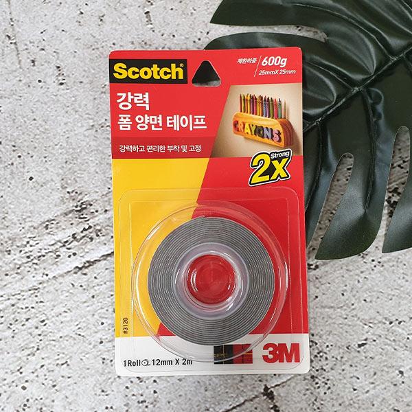 스카치 강력 폼 양면 테이프 12mmx2m