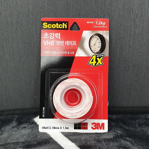 스카치 VHB 양면테이프(18mmx1.5m)