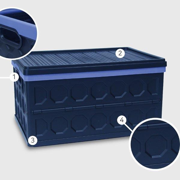 에코 폴딩박스 46L 블루