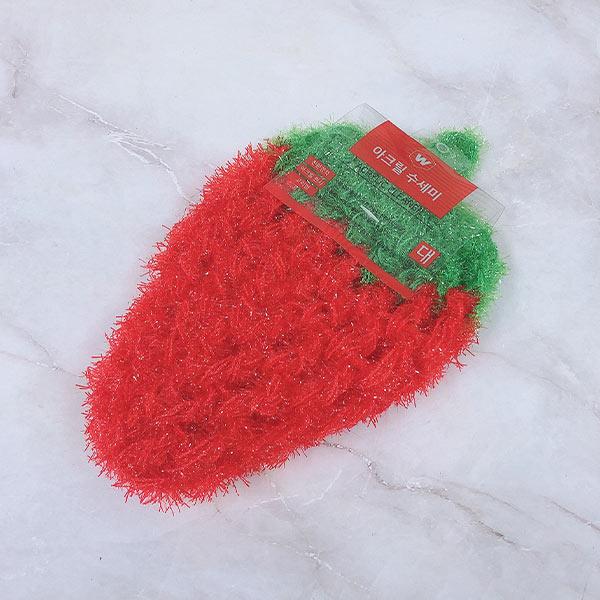 아크릴 수세미 딸기(색상랜덤)