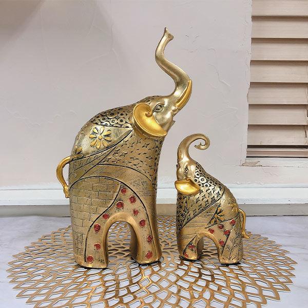 ABM 코끼리 장식품 동상 세트