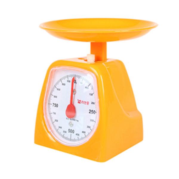 주부저울 1kg 오렌지