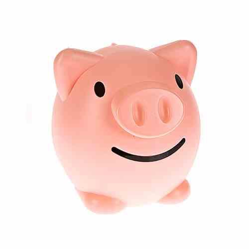 스페이스스마일저금통 소 핑크 [제작 대량 도매 로고 인쇄 레이저 마킹 각인 나염 실크 uv 포장 공장 문의는 네이뽕]