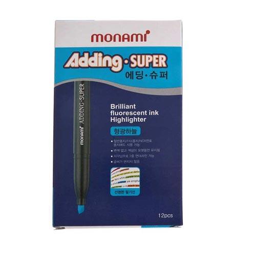 모나미 에딩슈퍼형광펜 하늘12p