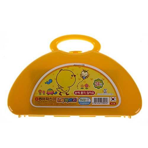 동아크레파스-24색-손에묻지않는 6000-노란병아리 [제작 대량 도매 로고 인쇄 레이저 마킹 각인 나염 실크 uv 포장 공장 문의는 네이뽕]