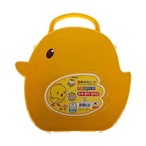 동아크레파스-36색-손에묻지않는 8000-노란병아리 [제작 대량 도매 로고 인쇄 레이저 마킹 각인 나염 실크 uv 포장 공장 문의는 네이뽕]