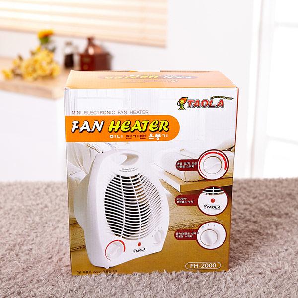 다와타올라미니전기팬온풍기 FH-2000 [제작 대량 도매 로고 인쇄 레이저 마킹 각인 나염 실크 uv 포장 공장 문의는 네이뽕]