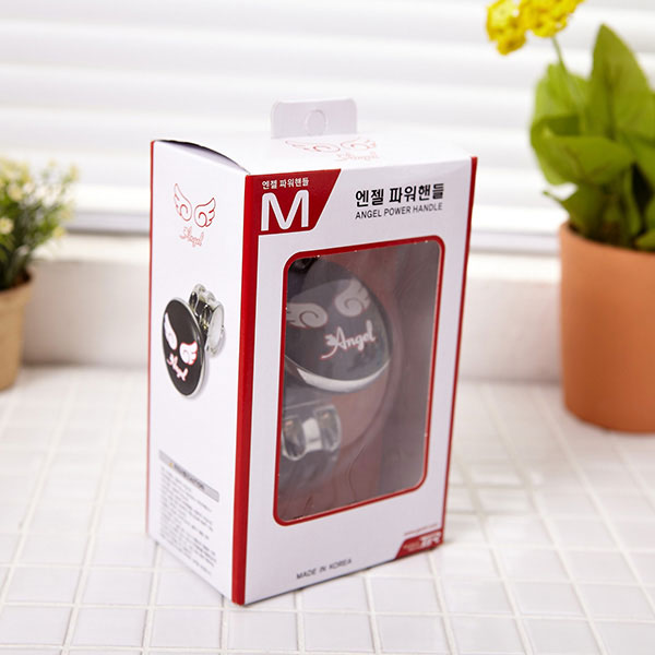 티엔알엔젤파워핸들 블랙 [제작 대량 도매 로고 인쇄 레이저 마킹 각인 나염 실크 uv 포장 공장 문의는 네이뽕]