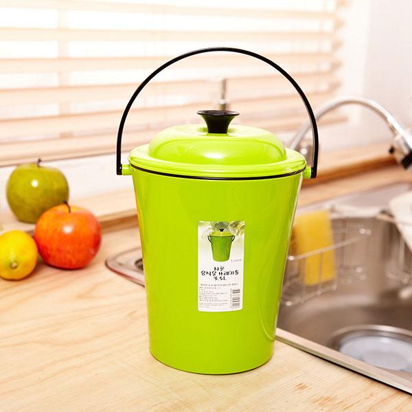 샤론 음식물쓰레기통 2.7L [제작 대량 도매 로고 인쇄 레이저 마킹 각인 나염 실크 uv 포장 공장 문의는 네이뽕]
