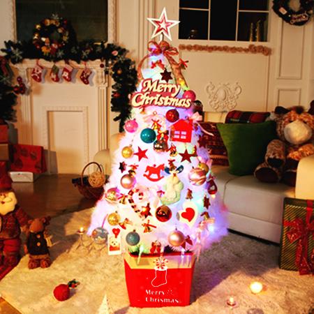 abm 크리스마스트리풀세트 1.3m 화이트