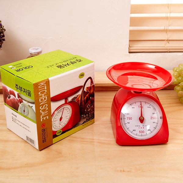 가정용주방저울(hk-001) 1kg (색상랜덤)
