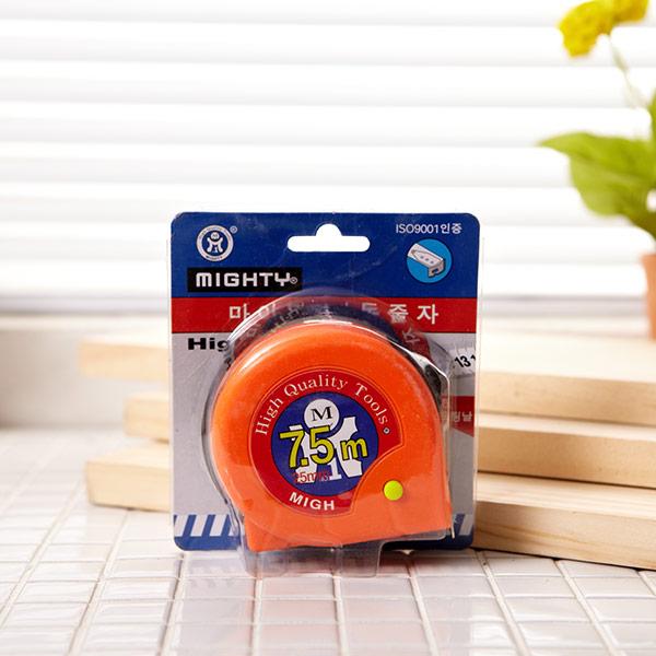 마이티 자동줄자 7.5m 색상랜덤발송 [제작 대량 도매 로고 인쇄 레이저 마킹 각인 나염 실크 uv 포장 공장 문의는 네이뽕]