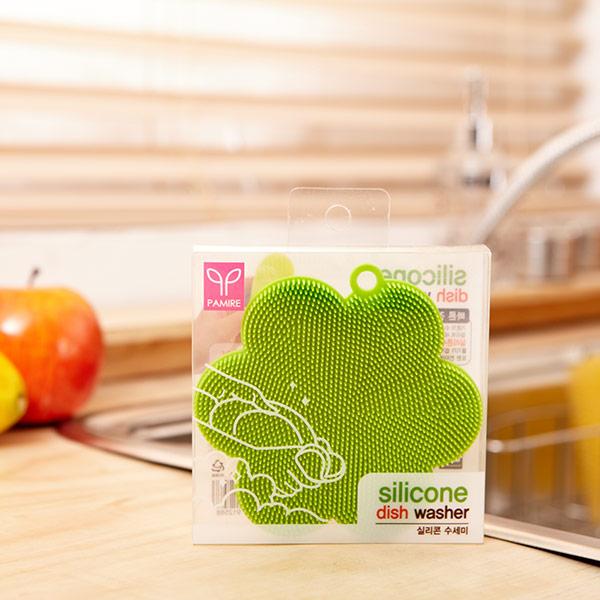 실리콘수세미(꽃) 색상랜덤발송 [제작 대량 도매 로고 인쇄 레이저 마킹 각인 나염 실크 uv 포장 공장 문의는 네이뽕]