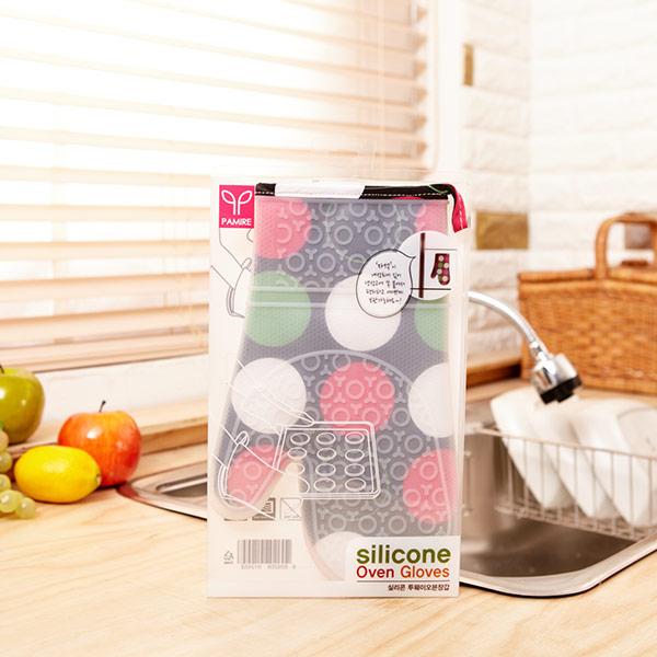 실리콘투웨이오븐장갑 패턴(색상랜덤)