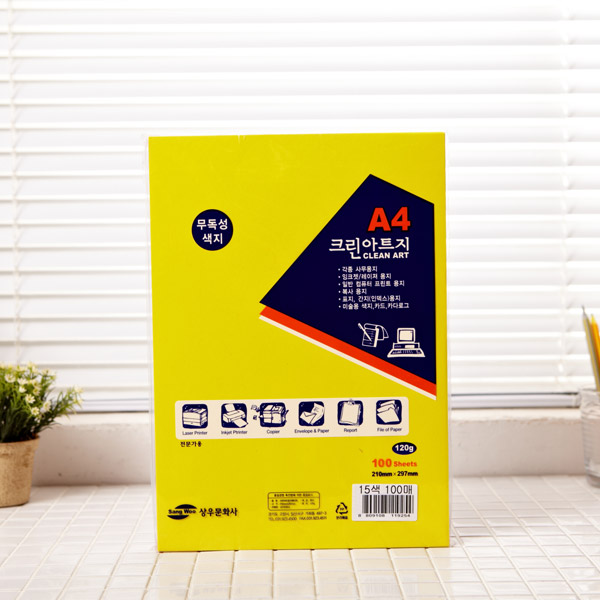A4 무독성 크린아트지 100매(혼합)
